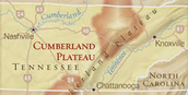 A map of the Cumberland Plateau