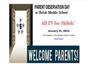Thursday, January 21 is Parent Observation Day! (and a bonus Literacy Workshop)