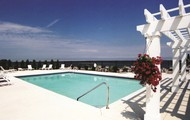 Lake front heated pool