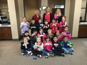 Our kindergarten students visiting American National Bank!