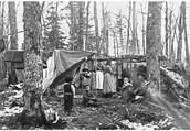 Ojibwe Family in Biboon.