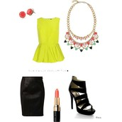 Bold Color:  Fanella Necklace over Chartreuse - amazing!