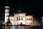 The Communal Palace at night
