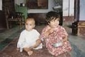 Malala and her little brother, Khushal.
