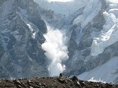 Avalanche in Himalayas