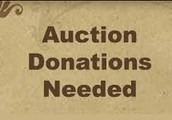 DONATIONS FOR THE AUCTION