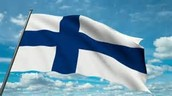 What Finlands flag looks like!!!!!