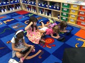 Some of our girls using the app: Kids A-Z!