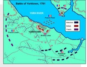 The map of Yorktown battle