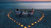 Romantic dinner on the beach - no problem!!