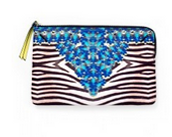 Jeweled Zebra Pouch $15