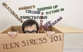 What puts stress on teens?
