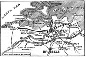 Map of the battle plan