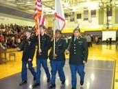 BGHS JROTC Color Guard at BGJHS