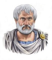 A painting of Aristotle.