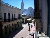 A parte mais histórica de Montevidéu
