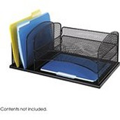 Safco Products 3254BL Onyx Mesh Desktop Organizer with 3 Horizontal/3 Upright sections, Black