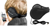 Earmuffs with built-in headphones