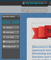 Presenting a lesson with the Board Builder