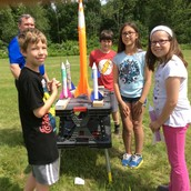 Ten, nine, eight, seven, six, five, four, three, two, one...Blast Off! Rocket launching in fourth grade