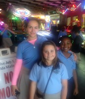 The students had a lot of fun on the arcade games.