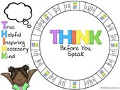 THINK before you Speak Conversation Game