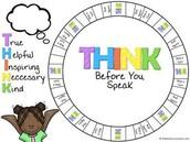 THINK before you Speak Conversation Game