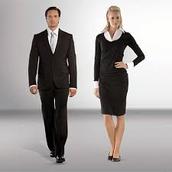 Men: Suits - Women: Long Sleeves