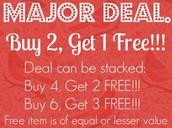 Buy 2 get 1 free promo
