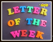We will focus on letters W and X during our two weeks.