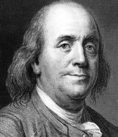 How did Benjamin Franklin use static electricity?