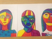 Self Portraits by 5th grade!