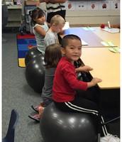 Room 22- Exercise balls