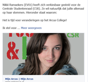 Facebook tekst Nikki