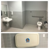 Beautiful new restroom & changing station for Pillow families is complete! Thanks AISD!