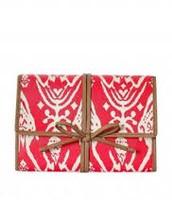 Bring it - Jewelry Roll - Red Ikat