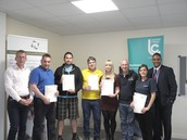 Manfrotto Learners Receiving their ILM Award