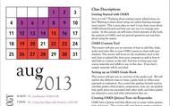 August Training Calendar