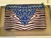 Capri pouch - jewelled zebra, was £30, my sample sale price £20