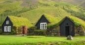 Look-a-like hobbit holes in Iceland