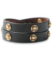 Signature Leather & Scallop Bracelet - Gold