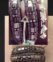 black lady wrap Bracelet $25 SOLD