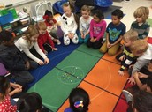 Learning to play marbles in Ms. Liwacz's class