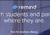 Remind is an easy way to contact parents, staff, teams, etc