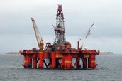 Oil drill in the North Sea