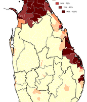 Where the Tamils are distributed