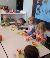 Yarn Pumpkin Painting