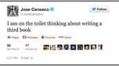 Jose Canseco Overdisclosing on Twitter