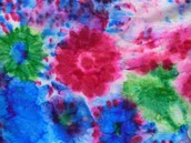 My first scarf, I designed and painted...
