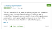 "Review for Disney land in Paris,France ""Amazing experience"""